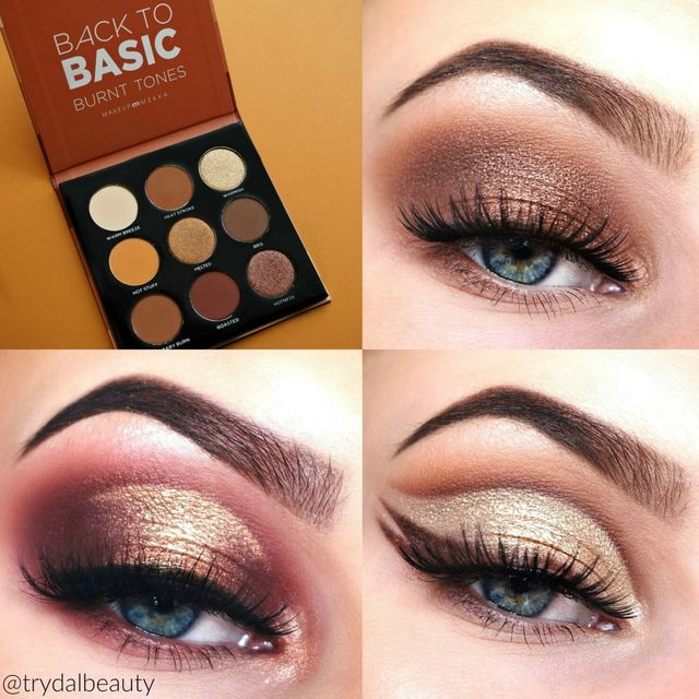 Back to Basic Eyeshadow Palette Burnt Tones